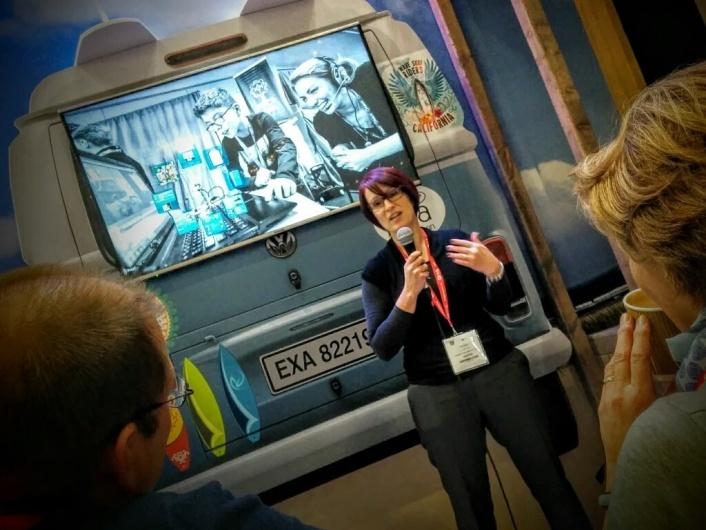 Su presenting at EXA Education Stand BETT 2016